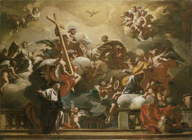 Solimena, Francesco, 1657-1747; The Holy Trinity with St Philip Neri in Glory