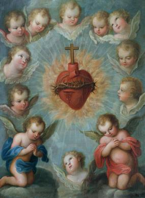sacred-heart-of-jesus-surrounded-by-angels-jose-de-paez