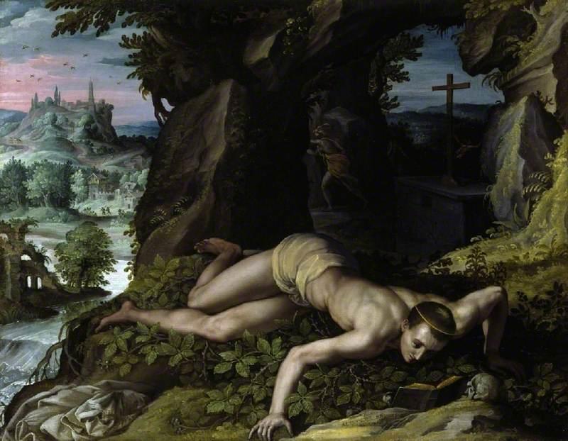 Allori, Alessandro, 1535-1607; The Temptation of St Benedict