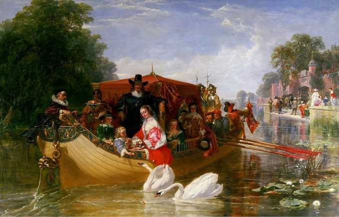 Frederick Goodall - An Episode in the Happier Days of Charles I (1853)