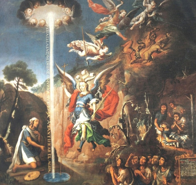 Apparition of St Michael the Archangel to Diego Lázaro, Santuario de San Miguel del Milagro, Nativitas, Tlaxcala